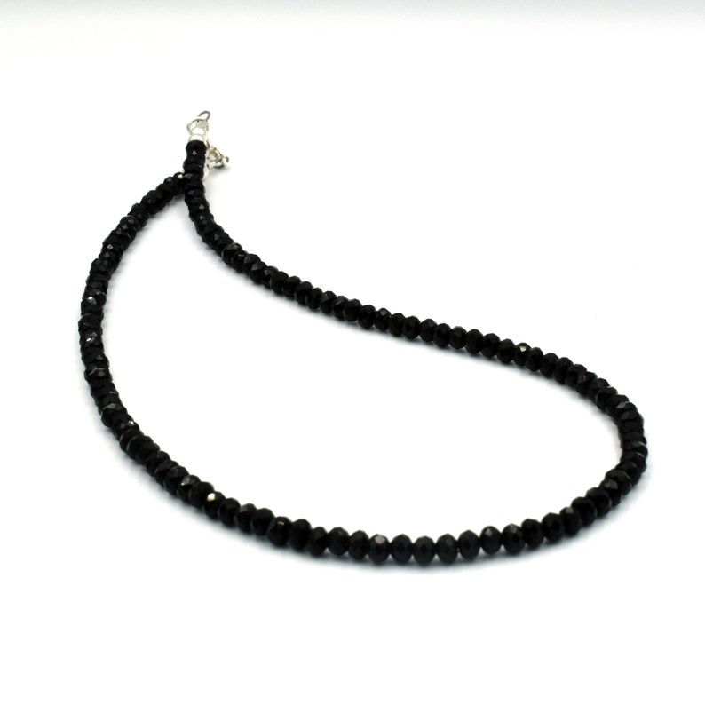 Black crystal choker necklace beaded choker short necklace image 0
