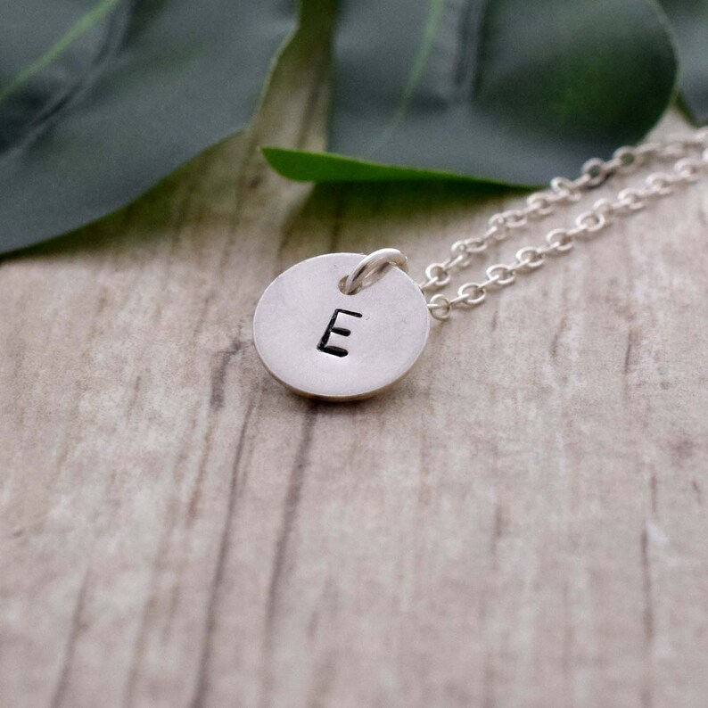 Initial necklace letter jewelry personalized gift initial image 0