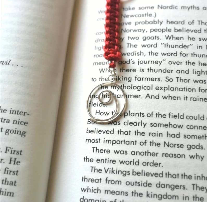 Gratitude bookmark red knotted bookmark thank you gift for image 0