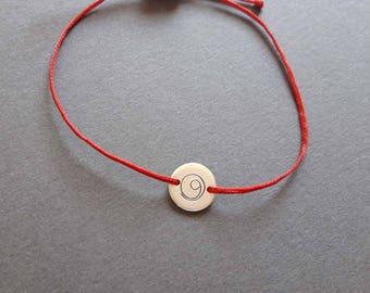 Silver Gratitude bracelet, gratitude, minimalist, spiritual, yoga,solid silver disc,symbolic jewelry, mindful, thankful, hand stamped