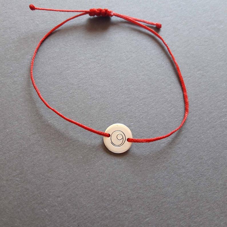 Silver Gratitude bracelet gratitude symbol minimalist r e d