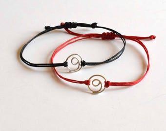Sterling Silver Gratitude bracelet, gratitude symbol, minimalist, spiritual, yoga,friendship, symbolic jewelry, mindful ,thankful, gratitude