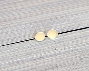 Small studs, sterling silver studs, round stud earrings, silver dot, minimalist, modern, post earrings, circle
