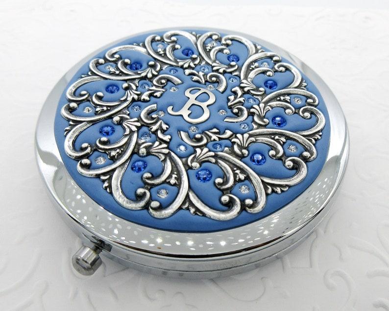 Something Blue Compact Mirror-Personalized Something image 0