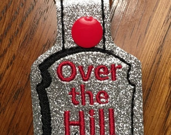 keychain, over the hill keychain