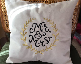 Mr and mrs pillow covers
