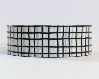 "SALE Black and White Washi Tape ""HandDrawn"" 15mm x 10meters"