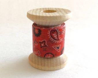 "Japanese Washi Tape Mini Spool ""Red Bandana Summer""  2 Yards"