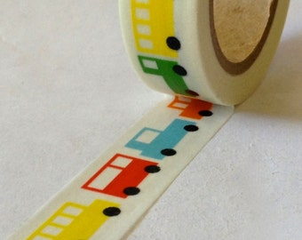 "CLEARANCE  Washi Tape ""Car-Toon""  15mm x 10 meters"