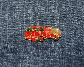 Measure Iowa Vintage 1987 Collectible Souvenir Pin Back Button Optimist Meeting Waterloo Terrific graphics with fun fire truck details