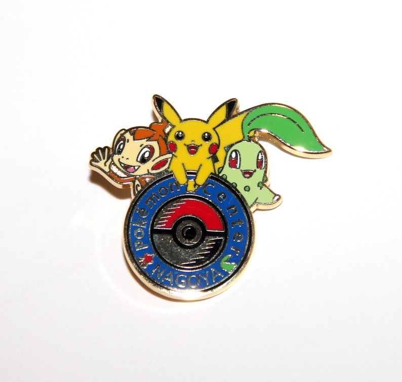Pokemon Center Nagoya Collectible Lapel Pin Limited Edition 2008 Pokemon  Lapel Pin 1158/2000 Chimchar, Pikachu & Chikorita Hat Pin Nintendo