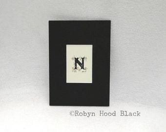Block letter print Etsy
