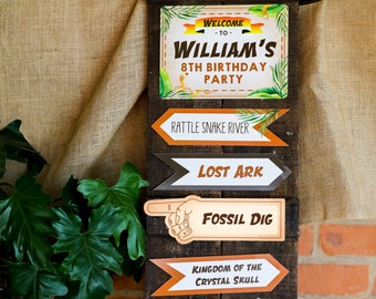 Explorer Party Directional Sign - Adventure Party Printable Welcome Sign - Instant Download and Edit File at home with Adobe Reader