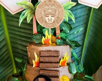 Explorer Party Cake Topper - Adventure Party Cake Topper - Jungle Party Cake Topper - Instant Download