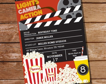 movie party invitation movie ticket invitation instant download and editable file personalize at home with adobe reader