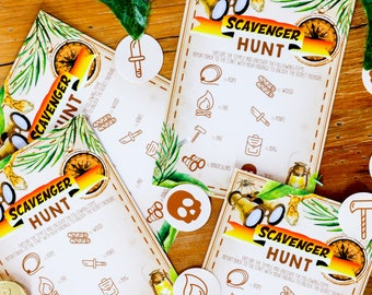 Explorer Party Game - Adventure Party Printable Scavenger Hunt - Instant Download and Edit File at home with Adobe Reader
