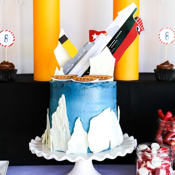 Titanic Party Cake Topper
