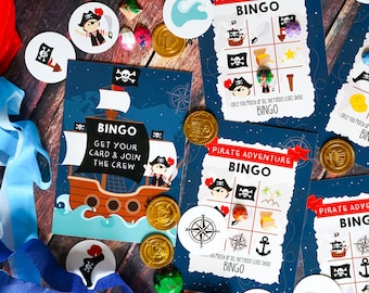 Pirate Bingo Game - Pirate Party Activity