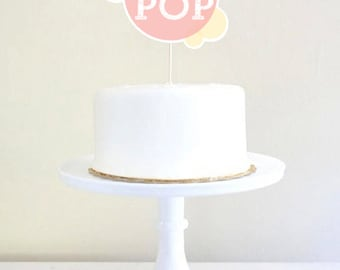 Ready To Pop Baby Shower Cake Topper for a Unisex Baby Shower - Instant Download and Edit with Adobe Reader