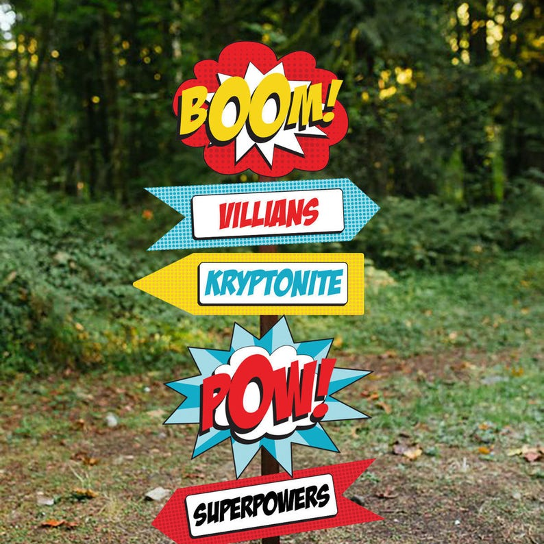 Superhero Party Welcome Sign  Superhero Party Printable Sign image 0