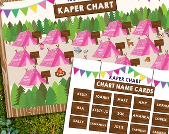 Girl Scout Kaper Chart - Editable Kaper Chart 24x36 inches - Printable Kaper Chart - Instant Download and Edit File with Adobe Reader