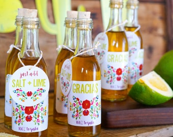 Fiesta Tequila Favor Tags | Mexican Fiesta Party Favor - Instant Download and Edit with Adobe Reader