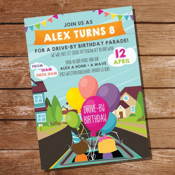 Drive By Birthday Party Invitation Drive By Birthday Parade Invitation Quarantine Birthday Instant Download Edit With Adobe Reader By Sunshine Parties Catch My Party