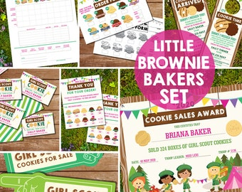 Girl Scout Cookie Printables - Girl Scout Cookie Seller Printables - Little Brownie Bakers Cookies - Instant Download + Edit in Adobe Reader