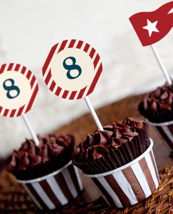 Titanic Party Printable Cupcake Toppers