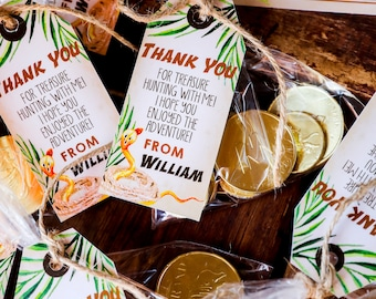 Explorer Party Favors - Adventure Party Printable Favor Tags - Jungle Party Tags - Instant Download and Edit File at home with Adobe Reader