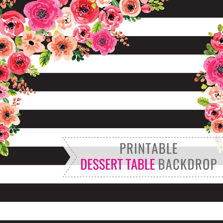 image relating to Printable Backdrop titled Black And White Stripe Printable BACKDROP Merely - Birthday Backdrop - Dessert Desk Backdrop - Get together Decorations - Fast Obtain