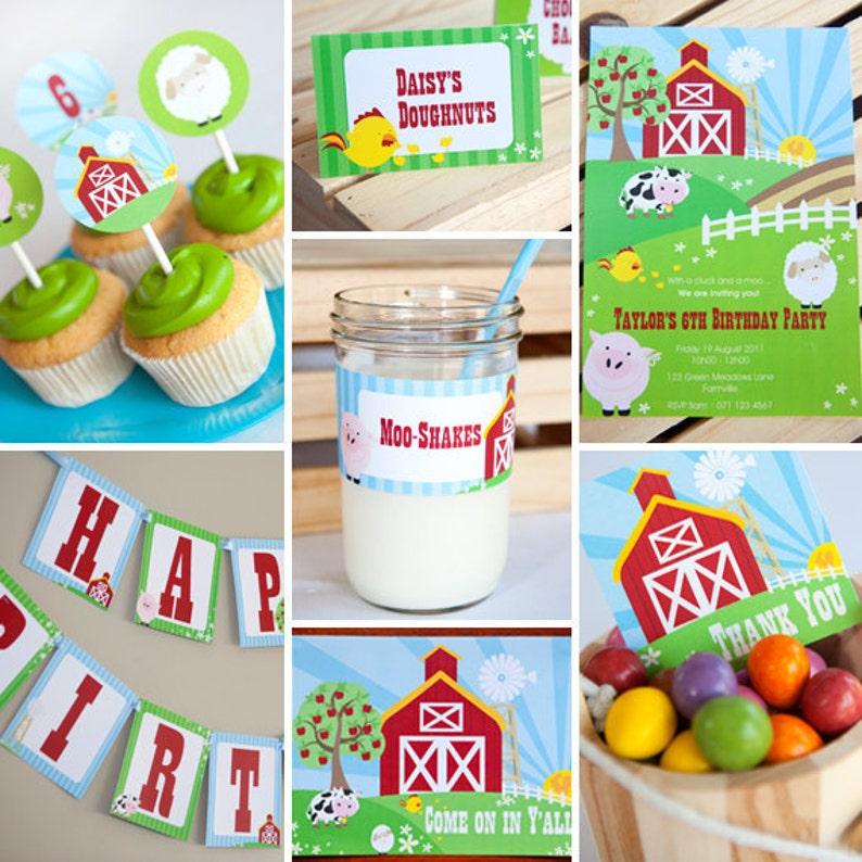 Farmyard Birthday Party Theme For A Boy Or Girl Farm