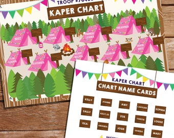 Girl Scout Kaper Chart - Editable Kaper Chart - Printable Kaper Chart - Instant Download and Edit File with Adobe Reader