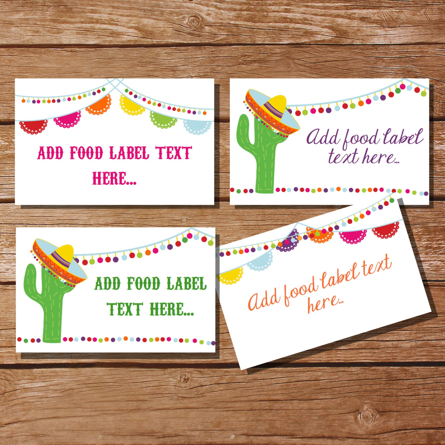 Pleasing Mexican Fiesta Tent Cards Food Labels Buffet Cards Food Tags Labels Instantly Downloadable File Home Interior And Landscaping Oversignezvosmurscom