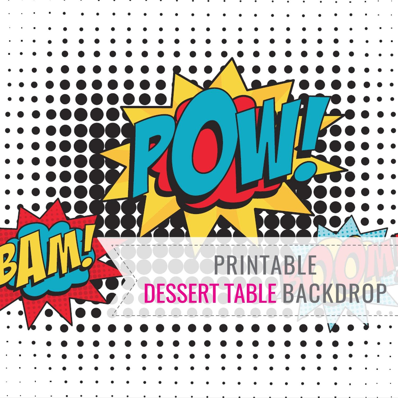 Boy Superhero Party Printable BACKDROP - Dessert Table Backdrop - Superhero  Backdrop - Instant Download