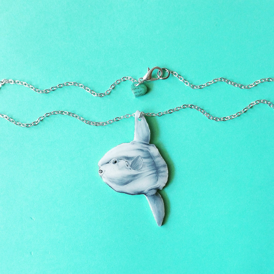 5cm Mola Necklace In Shell Gift Box Glossy Ocean Sunfish Etsy Tshirts Shirts And Custom Clothing 50