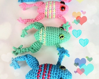 Frog Crochet Pattern PDF Instant Download