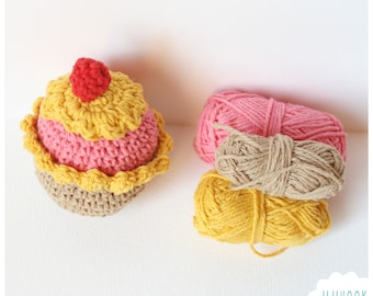 Cupcake crochet pattern PDF Instant Download