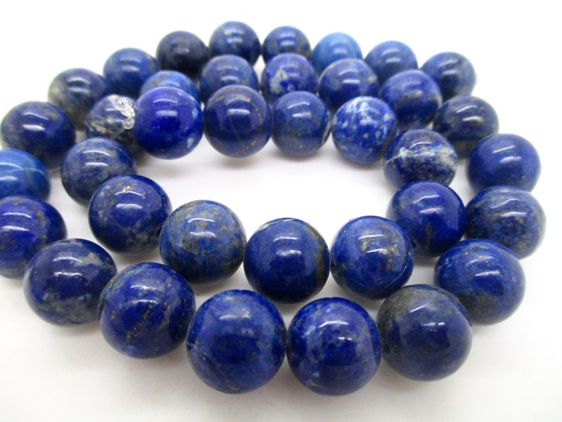 SALE Super Nice100/% Natural No Dye Lapis Lazuli  12 mm  hand polished  Beads Afghanistan L54