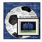 Soccer Coach Gift , Coach Appreciation Gift , Custom Coach Picture Frame , Coach Thank You , End Of Season Gift , Personalized Team Frame