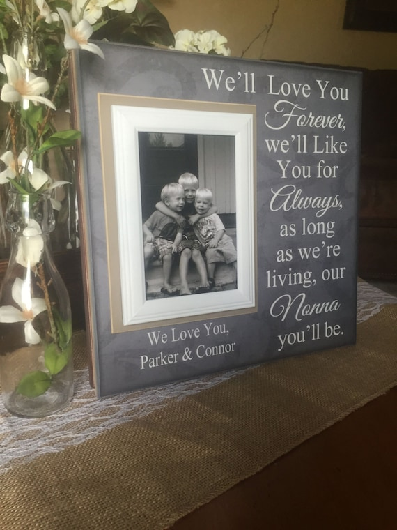 Well Love You Forever Picture Frame Grandparents Gift Etsy