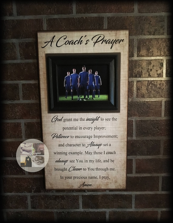 Coach Gifts For Men Coach Thank You Personalized Football Coach Gift Customized Basketball Coach Gift A Coachs Prayer Frame