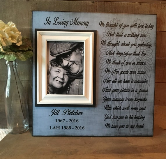 In Memory Frame Lost Loved One Loss Of Mother Memorial Etsy