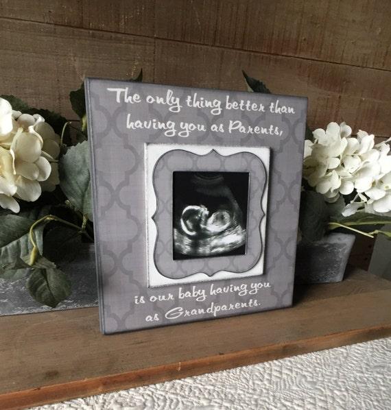 Grandparents Pregnancy Reveal Sonogram Photo Picture