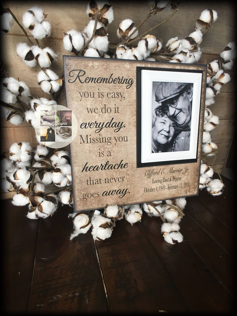 Sympathy Gift Ideas Loss Of A Parent Memorial Frame Loss Etsy