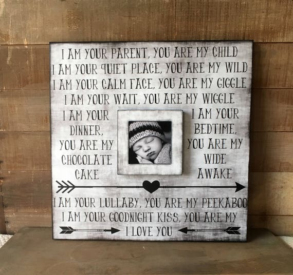 Baby Nursery Frame~New Mom Gift ~New Parents Present ~ First ...