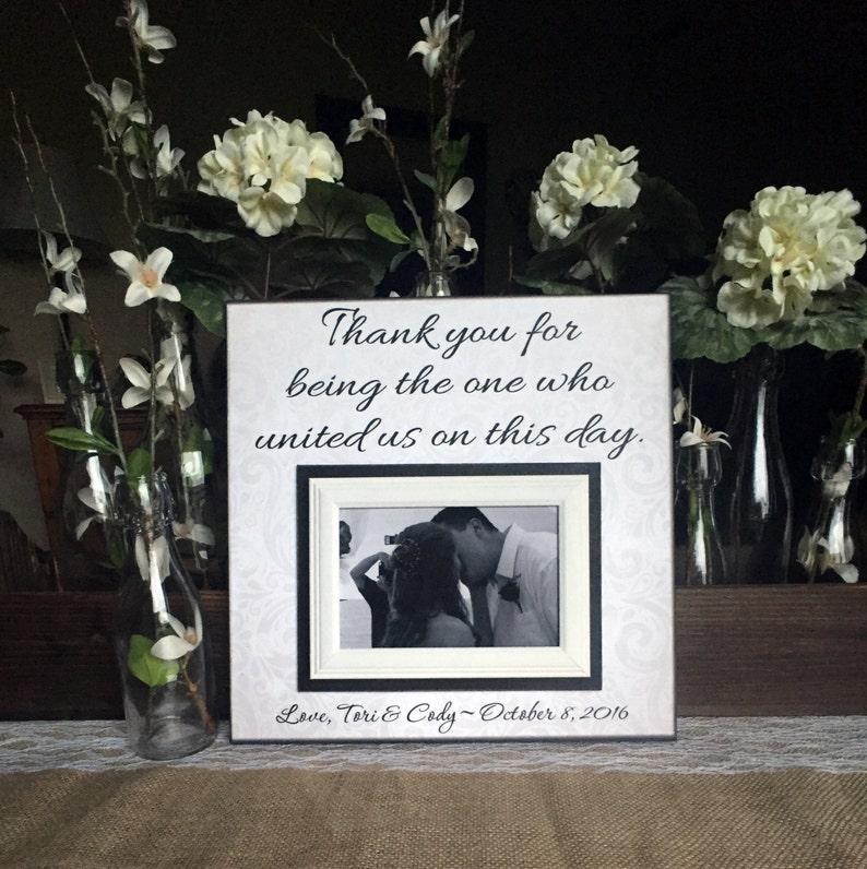 Wedding Officiant Gift  Custom Wedding Frame  Thank You Gift image 0