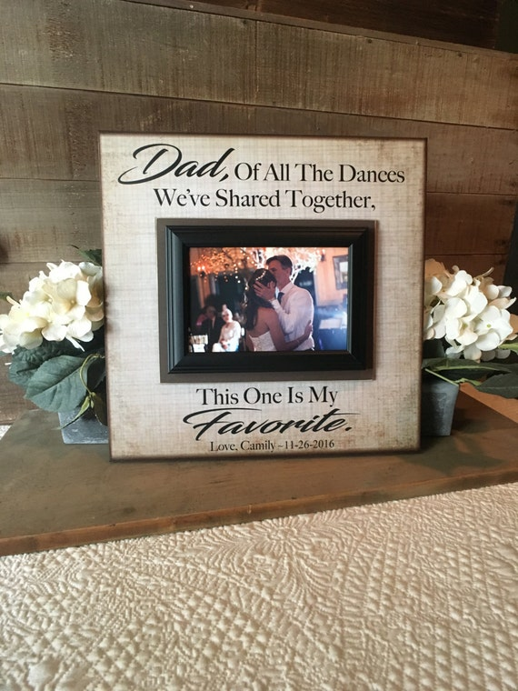 Father Daughter Dance Frame Thank You Gift From Bride Etsy