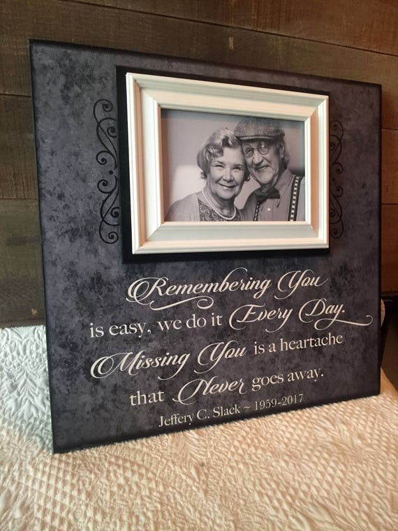 In Memory Frame Lost Loved One Photo Memorial Remembering Etsy