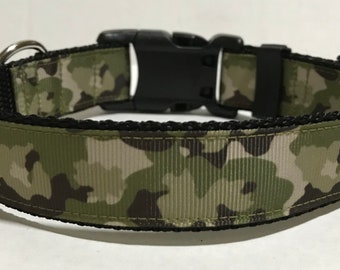 Camo Dog Collar - Adjustable Dog Collar - Camouflage, Hunting